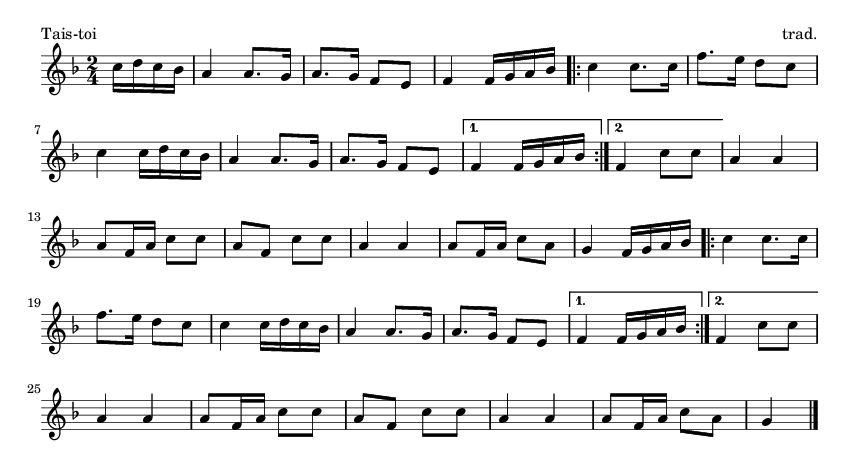 Tais-toi - please update page (F5 key), if notes are not visible