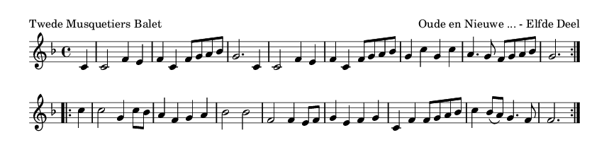 Twede Musquetiers Balet - please update page (F5 key), if notes are not visible