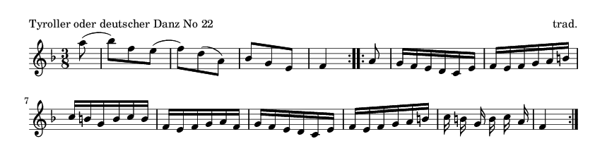 Tyroller oder deutscher Danz No 22 - please update page (F5 key), if notes are not visible