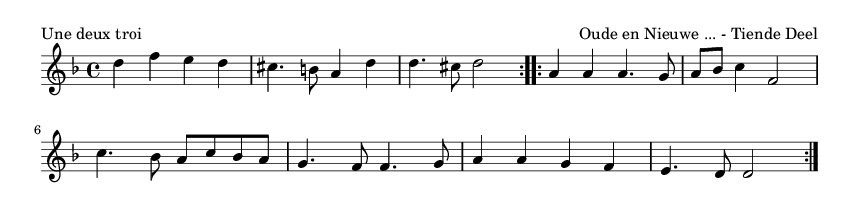 Une deux troi - please update page (F5 key), if notes are not visible