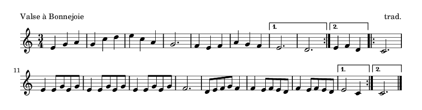 Valse à Bonnejoie - please update page (F5 key), if notes are not visible