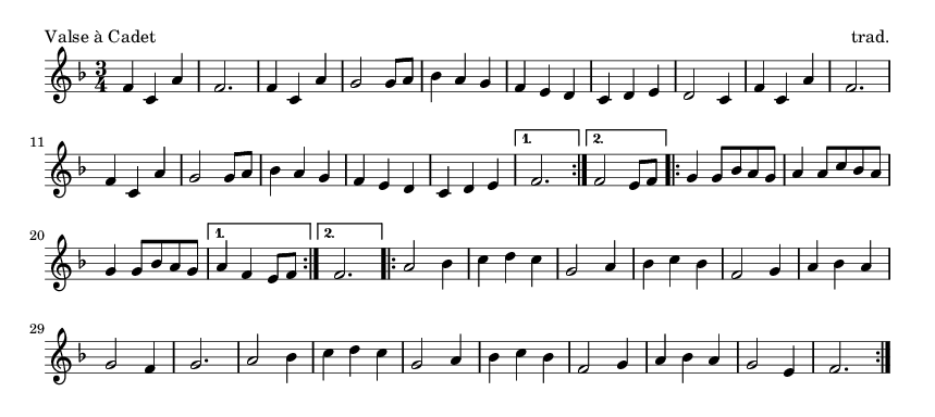 Valse à Cadet - please update page (F5 key), if notes are not visible
