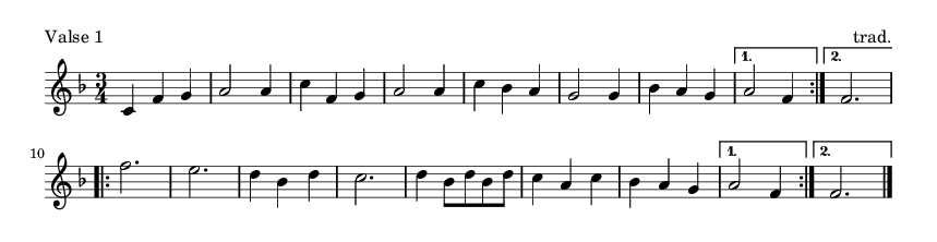 Valse 1 - please update page (F5 key), if notes are not visible