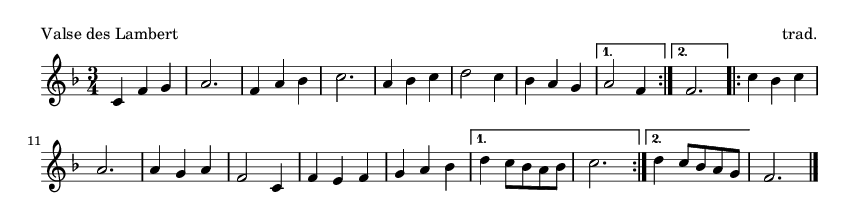 Valse des Lambert - please update page (F5 key), if notes are not visible