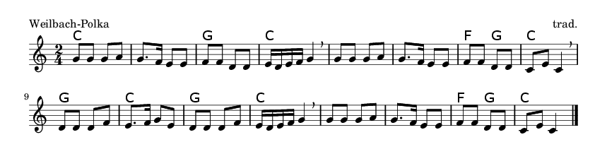 Weilbach-Polka - please update page (F5 key), if notes are not visible