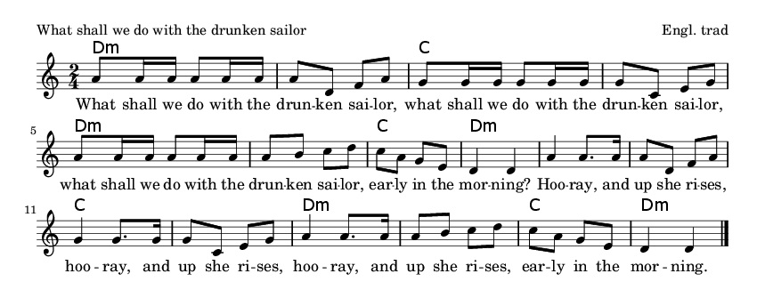 What shall we do with the drunken sailor - please update page (F5 key), if notes are not visible